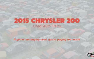 Used auto parts 2015 CHRYSLER 200